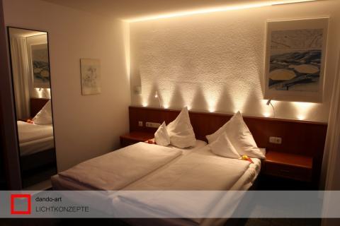 Kombinierte Beleuchtung für Ihr Schlafzimmer | dando-art Lichttechnik